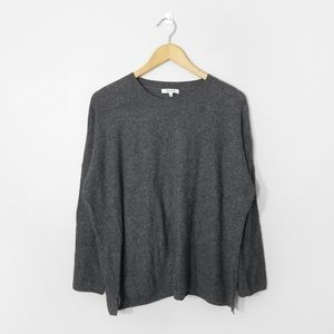 MADEWELL Grey Waffle Knit Sweater Top